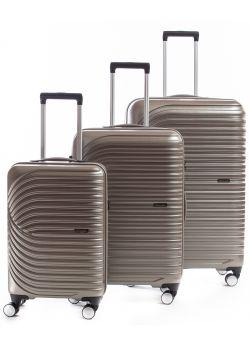 Set de 3 valises rigides 8 roulettes Titane2.0 Metzelder