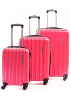 Set de 3 valises rigides 4 roulettes Selecta Metzelder