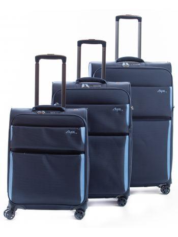 Set de 3 valises souples 8 roulettes Arizona2.0 Alpini