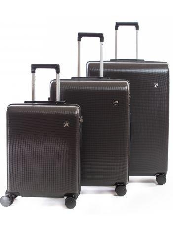 Set de 3 valises rigides 8 roulettes Axial Alpini Gris