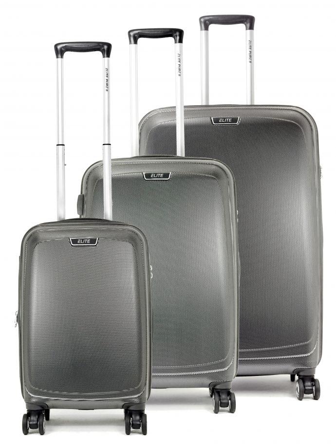 Set de 3 valises rigides 8 roulettes Elite