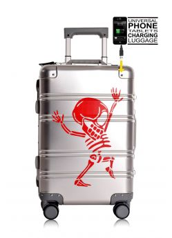 Valise cabine rigide 8 roulettes Skull + Power Bank Tokyoto Luggage