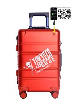 Valise cabine rigide 8 roulettes Logo + Power Bank Tokyoto Luggage