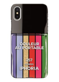 Coque pour Iphone X/Xs Nailpolish Stripes Multicolor Iphoria
