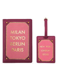 Etui passport et porte etiquette Iphoria