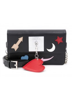 Sac épaule Plate Icons Black with Charm Iphoria