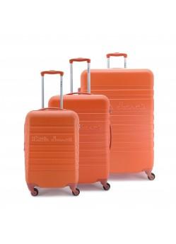 Set de 3 valises Rigides 4 roulettes Orange Little Marcel