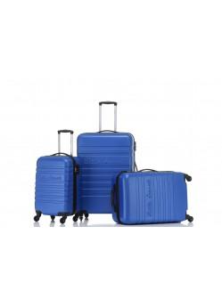 Set de 3 valises Rigides 4 roulettes New Bleu Little Marcel