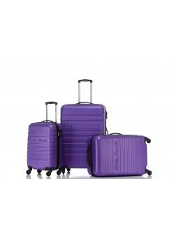 Set de 3 valises Rigides 4 roulettes New Violet Little Marcel