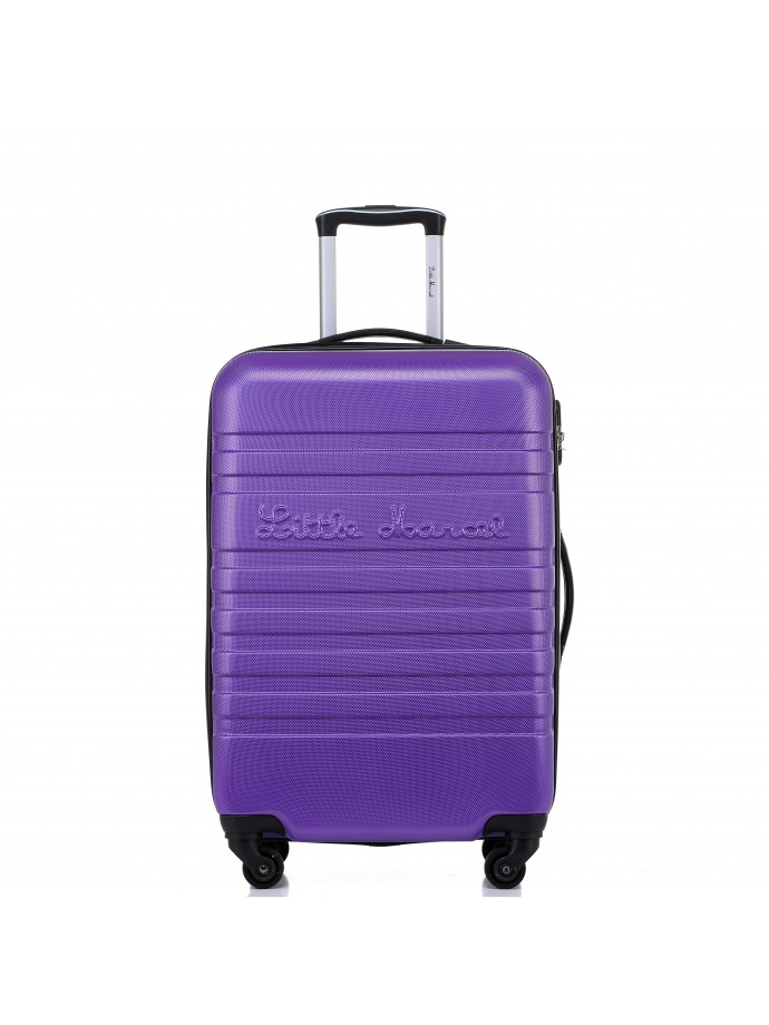 valise 65 cm rigide 4 roulettes new violet little marcel. Black Bedroom Furniture Sets. Home Design Ideas