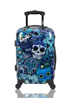 Valise cabine Rigide 4 roulettes  Blue Skulls Tokyoto Luggage