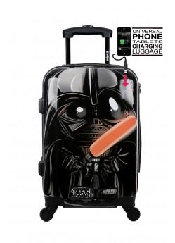 Valise cabine Rigide 4 roulettes Black Empire + Power Bank Tokyoto Luggage