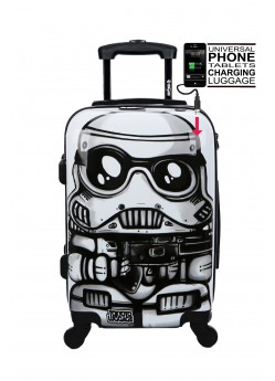 Valise cabine Rigide 4 roulettes White Soldier + Power Bank Tokyoto Luggage