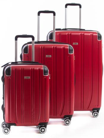 Set de 3 valises Rigides 8 roulettes Horizon2.6 Alpini rouge