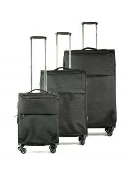 Set de 3 valises souples 4 roulettes Elite