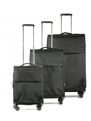 Set de 3 valises souples 4 roulettes Elite