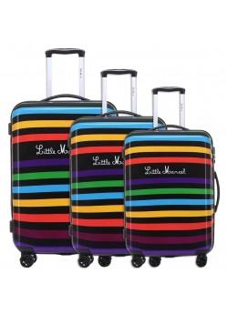 Set de 3 valises Rigides 8 roulettes Multi Little Marcel
