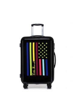 Valise Cabine Rigide 8 roulettes Flag Little Marcel