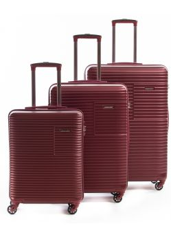 Set de 3 valises rigides 4 roulettes Classic R Metzelder