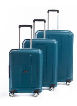 Set de 3 valises rigides 8 roulettes Cliker Metzelder