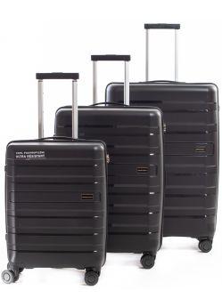 Set de 3 valises rigides 8 roulettes Lovita2.0 Metzelder