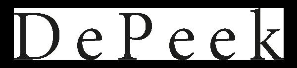 Logo noir DePeek 600 px.png